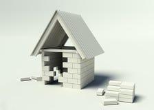 дом 2 конструкций вниз Стоковые Изображения