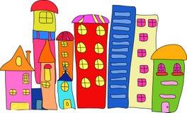 дом 2 шаржей Стоковое Изображение RF