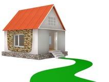 дом 3d Стоковое Изображение RF