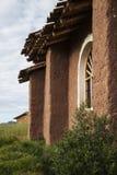 Дом Adobe в сельской сельской местности Перу Стоковое Изображение RF