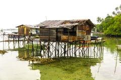 Дом Bajau Стоковая Фотография RF