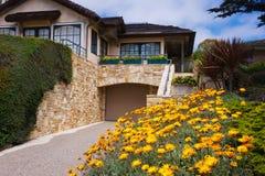 дом carmel california пляжа стоковое фото rf