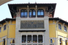 Дом Coppedè в Риме Стоковые Изображения RF