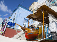 Дом Corricella Марины рыболова Procida, Италии Стоковое фото RF
