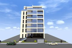 дом 3D представляет в Армении Стоковая Фотография
