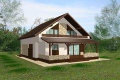 дом 3D представляет представление стоковое фото rf