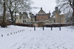 Дом Dalziell в снеге Стоковое Изображение