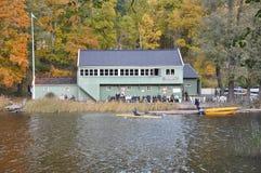 дом djurg клуба rden гребущ stockholm стоковые фотографии rf