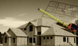 дом duotone конструкции Стоковая Фотография RF