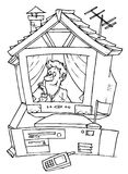 дом e Иллюстрация штока