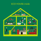 Дом Eco внутрь Стоковые Фотографии RF
