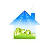 дом eco зеленая Бесплатная Иллюстрация