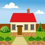 Дом Eco от естественных материалов Бесплатная Иллюстрация