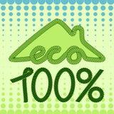 Дом Eco с абстрактной предпосылкой Стоковые Изображения RF