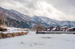 Дом Gassho-zukuri в Shirakawa, Японии Стоковые Изображения RF