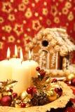 дом gingerbread украшения рождества Стоковые Изображения