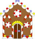 дом gingerbread 02 цветов Стоковое Фото