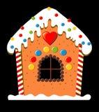 дом gingerbread иллюстрация вектора