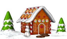дом gingerbread Стоковое Изображение RF