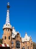 Дом Gingerbread Guell парка Барселона Gaudi Стоковое фото RF