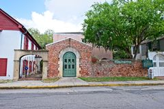 Дом Gonzalez Alvarez в историческом Августине Блаженном, Флориде Стоковая Фотография RF