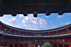 Дом Hakkas круглый в Китае Стоковое фото RF