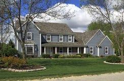 дом landscaped высококачественное Стоковые Изображения