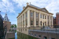 Дом Mauritshuis Мориса - музей изобразительных искусств в Гааге, Нидерландах стоковая фотография rf