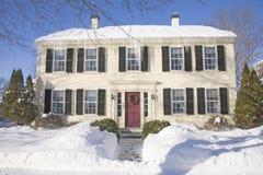 Дом New England Стоковые Изображения RF