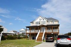 Дом oceanfront берега Virginia Beach восточный стоковое изображение