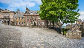 Дом ` s губернатора в замке Эдинбурга Шотландия стоковые изображения rf