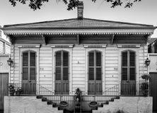 Дом Shootgun в ЛА Нового Орлеана Стоковые Изображения RF
