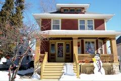 Дом Snowmans Стоковые Изображения