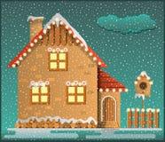 Дом Snowy Стоковое Изображение RF