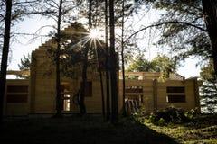 Дом Streewise в древесинах стоковое изображение