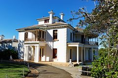 Дом Strickland, Воклюз, Сидней, Австралия стоковое фото rf