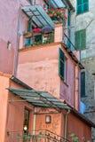 Дом terre cinque Monterosso старый стоковое фото