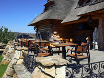 дом thatched деревянное Стоковые Фото