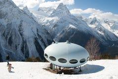 Дом UFO гор стоковые фотографии rf