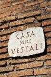 Дом Virgins Vestal Стоковая Фотография