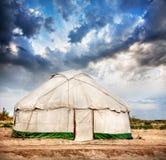 Дом Yurt кочевническая стоковые изображения rf
