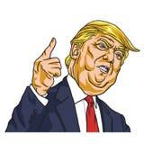Доналд Трумп Вы увольнянный re `! Вектор шаржа 19-ое мая 2017 бесплатная иллюстрация