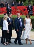 Дональд Трамп и Melania Trump на саммите НАТО Стоковые Фото