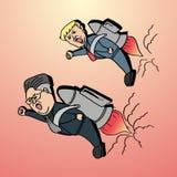 Дональд Трамп против Jong-ООН Ким на угрозе ядерного оружия 22-ое мая 2018 иллюстрация вектора