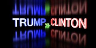 Дональд Трамп против Хиллари Клинтон Избрание 2016 США стоковые изображения