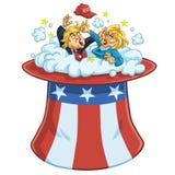 Дональд Трамп против Хиллари Клинтон иллюстрация штока
