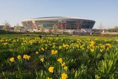 Донецк, Украина - 29-ое апреля 2017: Стадион арены Donbass стоковое изображение rf