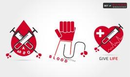 Донорство крови логотипа иллюстрация штока