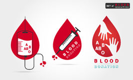 Донорство крови логотипа бесплатная иллюстрация