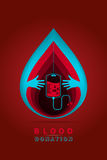 Донорство крови логотипа иллюстрация вектора